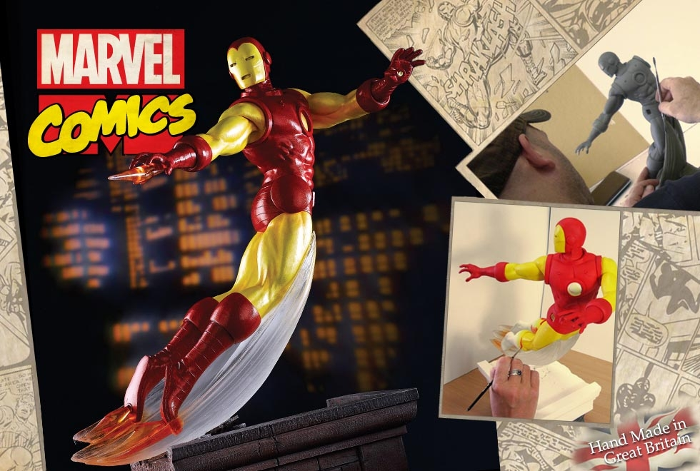 Detail On Border Arts First Marvel Figure – Iron Man