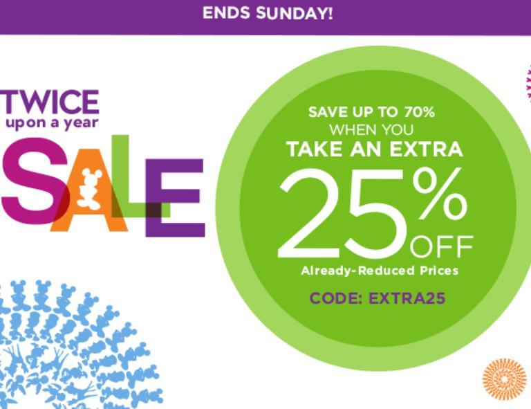 Extra 25% Off At Disneystore.com