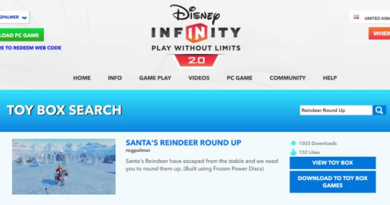 New Search Option For Disney Infinity 2.0 Toy Boxes
