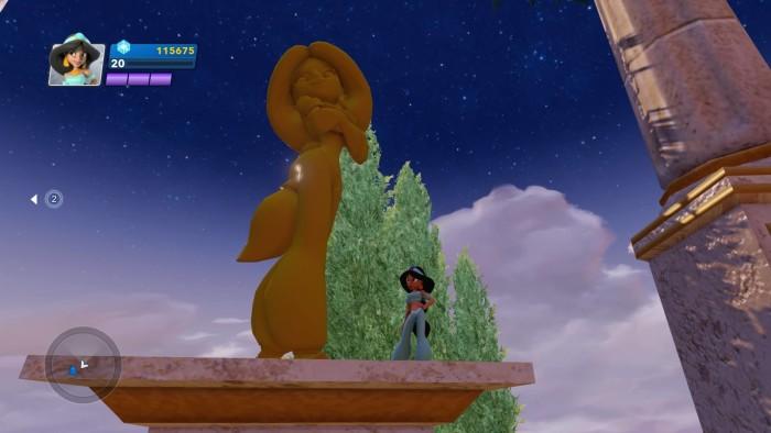 Jasmine and her statue.