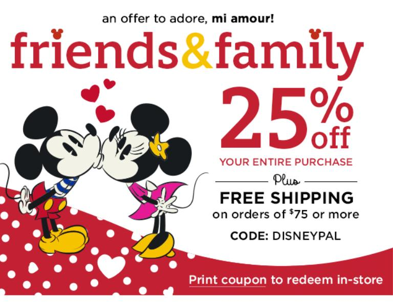 25% Off DisneyStore.com