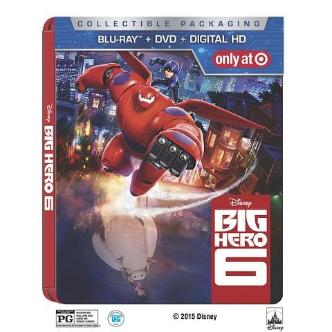 Details On Big Hero 6 Blu Ray/DVD's including Exclusive Steelbook