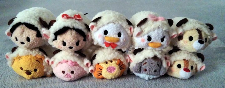 Japan Exclusive 2015 New Year Sheep Box Set Tsum Tsum Mini