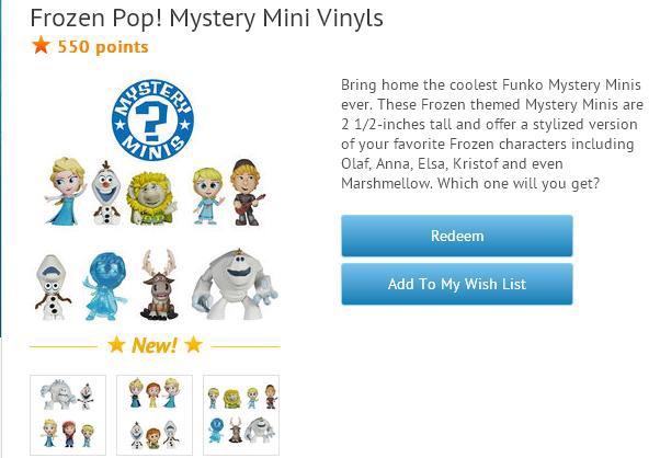 Frozen Mystery Minis Now on Disney Movie Rewards
