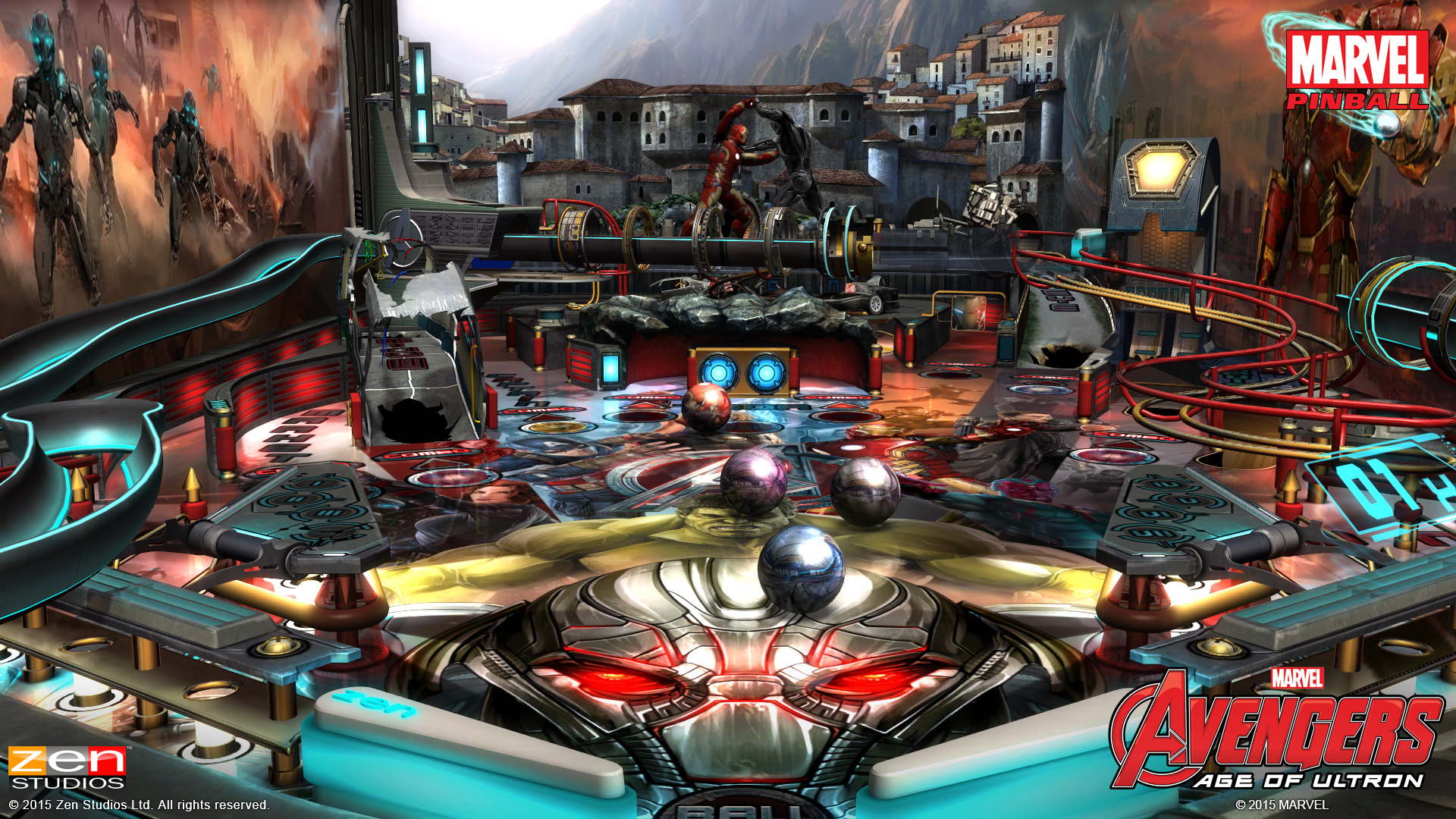 new avengers  age of ultron pinball game coming april 21st