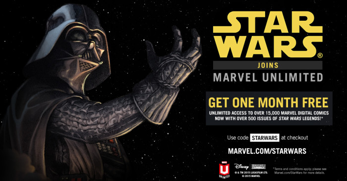 Star Wars Joins Marvel Unlimited… New Members Get One Month FREE