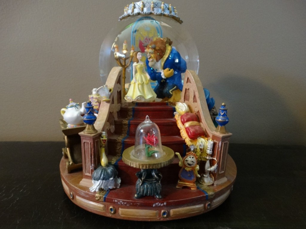 By Disney Beauty And The Beast Snow Globe