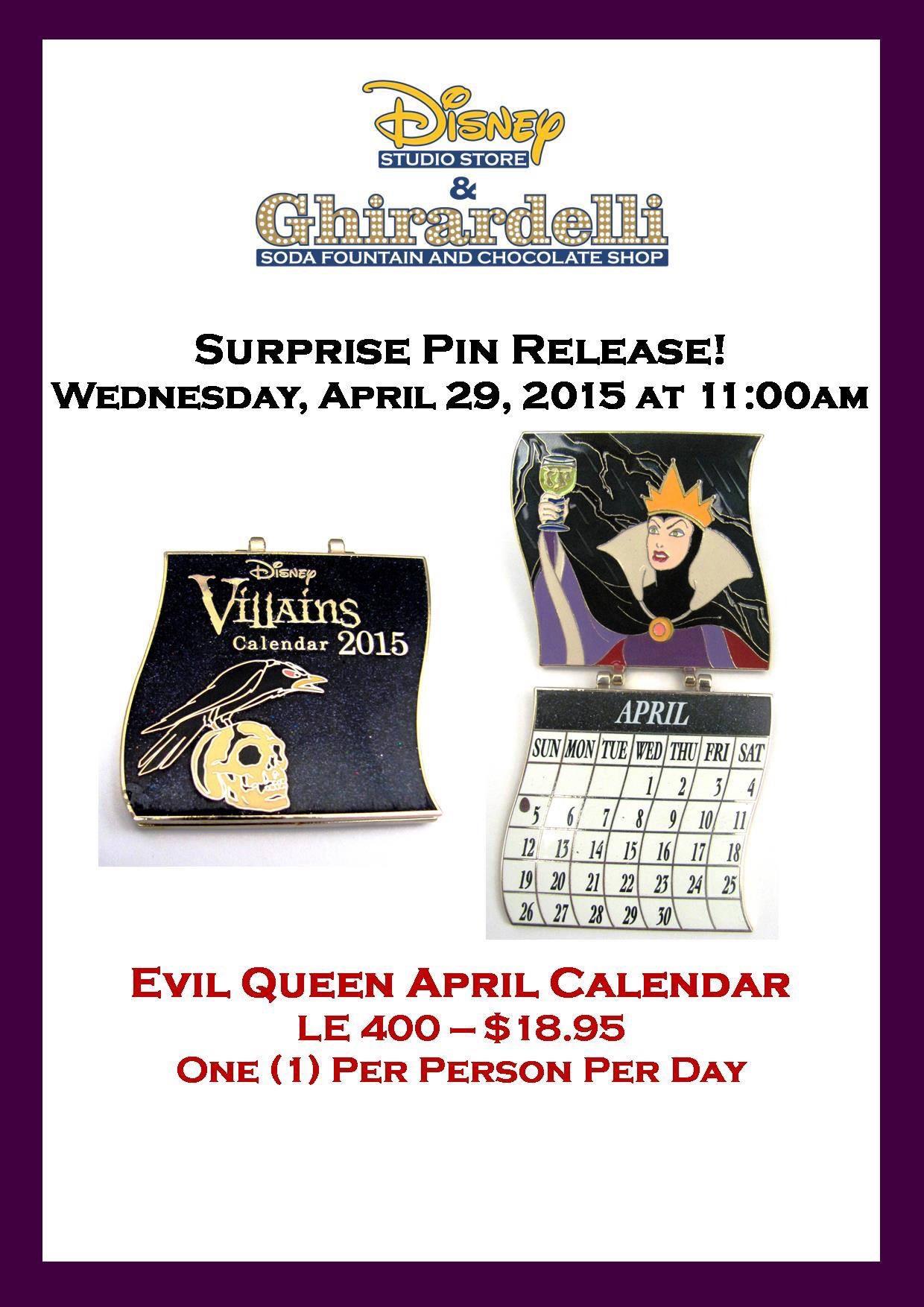 Surprise Evil Queen Pin Released At Disney Studio Store
