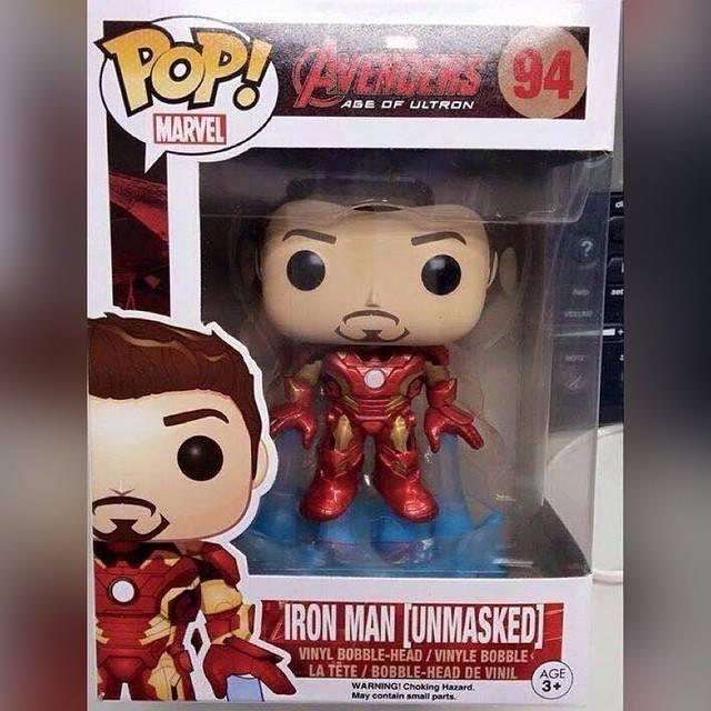 Unmasked Iron Man Funko Pop! Vinyl Discovered