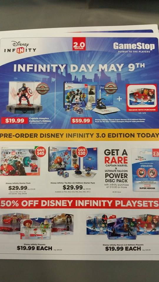 GameStop's Disney Infinity Day (May 9th) Details