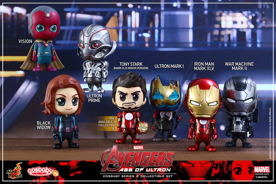 Hot Toys Avengers Cosbaby Series 2 Details