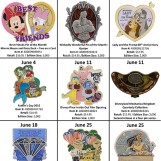 Details On Disneyland's June Pin Releases