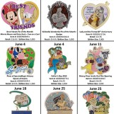 Details On Walt Disney World's June Pin Releases