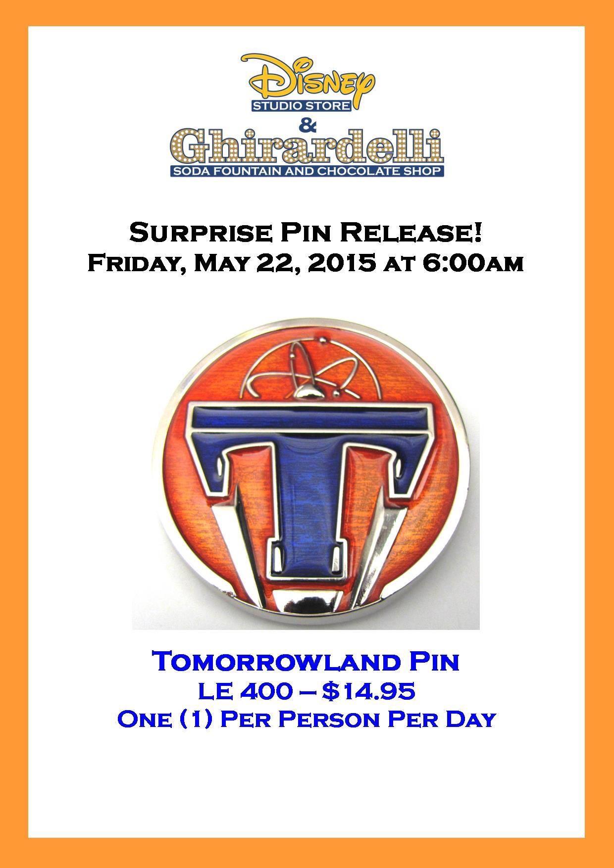 Tomorrowland Pin Released At Disney Studio Store