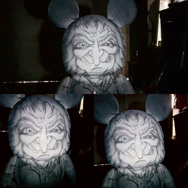 Haunted Mansion Hatchetman D23 3 Foot Custom Vinylmation Preview