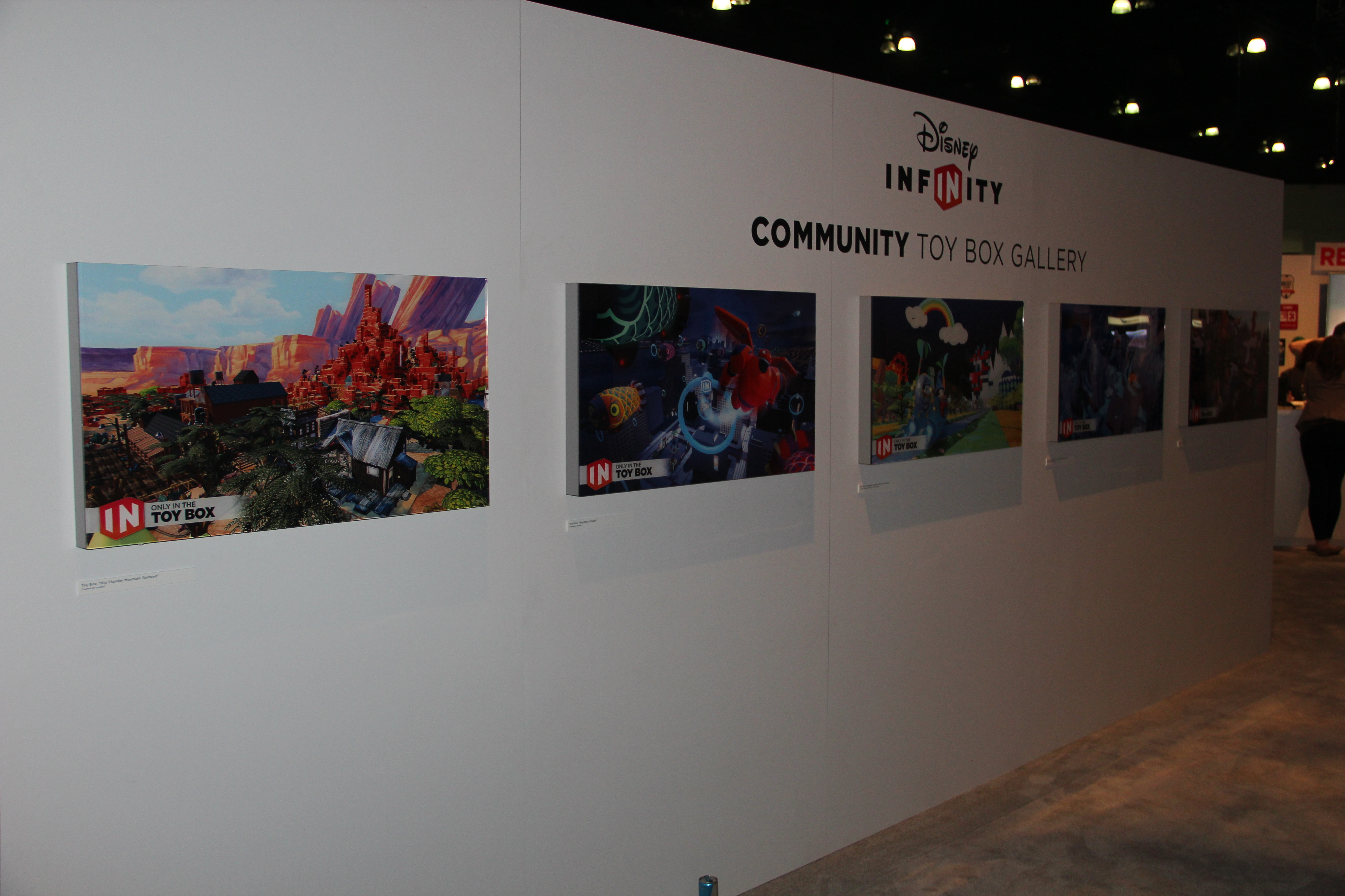 Community Built Toy Box Gallery at Disney Infinity's E3 Booth!