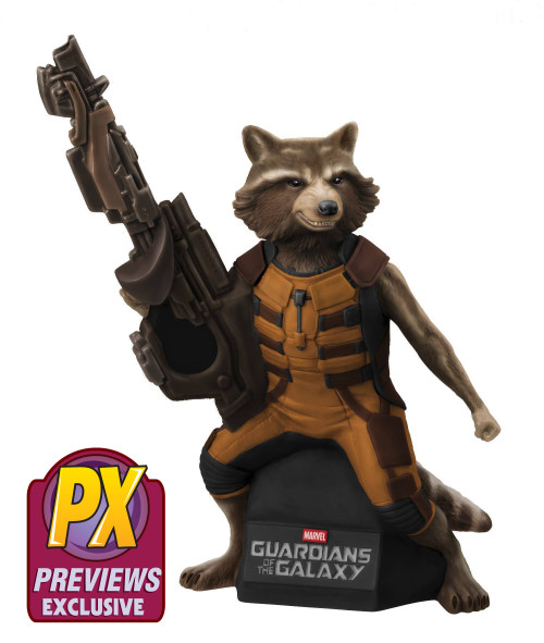 PX Exclusive Rocket Raccoon Bank Coming this Summer.