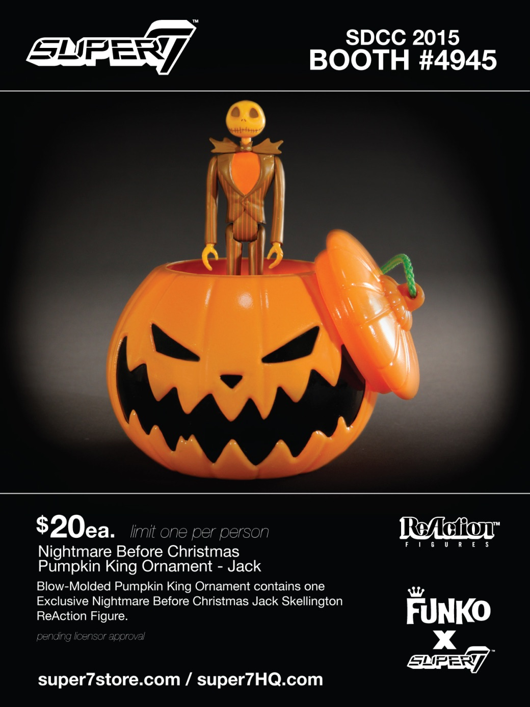 Details On Nightmare Before Christmas Funko Reaction SDCC Exclusives