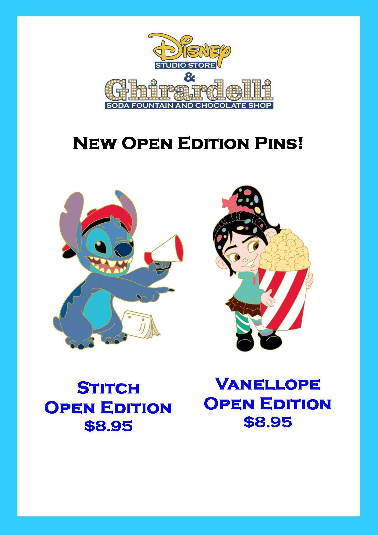 Two New Pins Released At Disney Studio Store