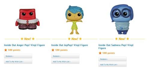 Inside Out Pop! Vinyls Available at Disney Movie Rewards
