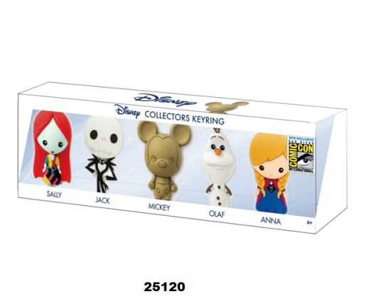 Disney – 3D Foam Collector Key Ring Set Exclusive To SDCC