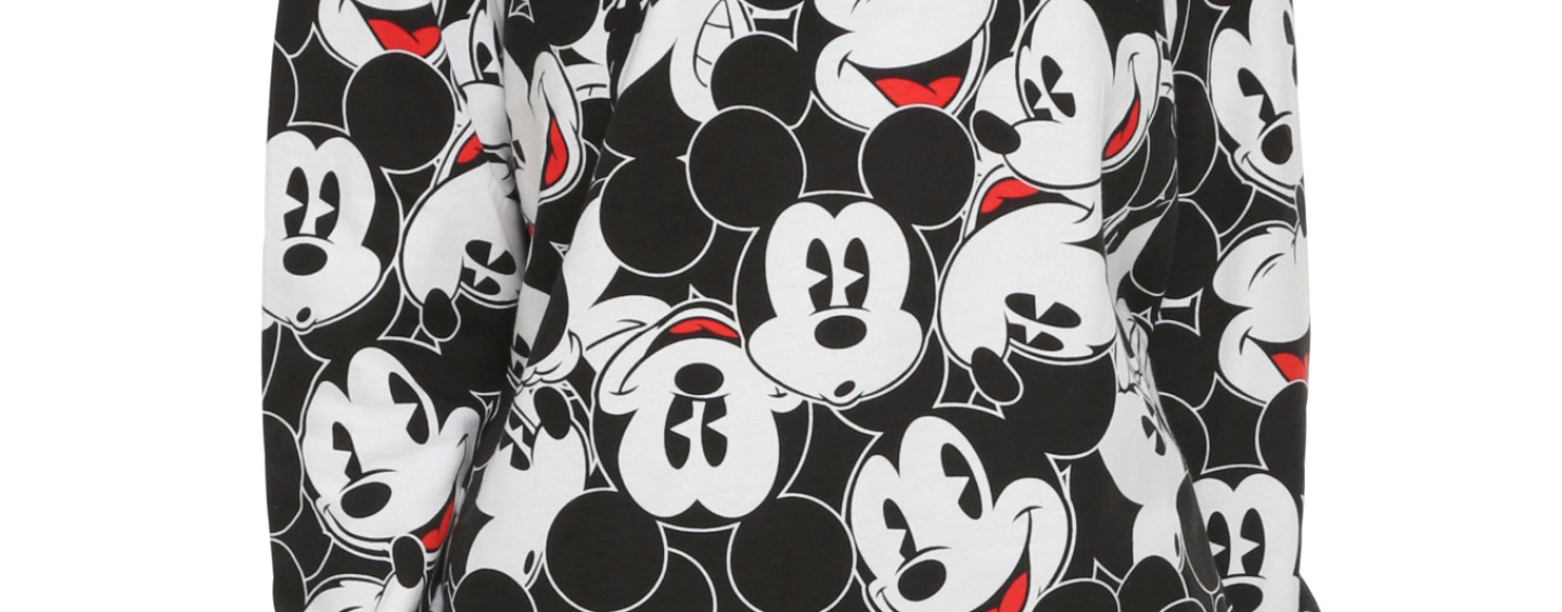 Ladies Mickey Mouse Paint Long Sleeved Jersey by Junk Food