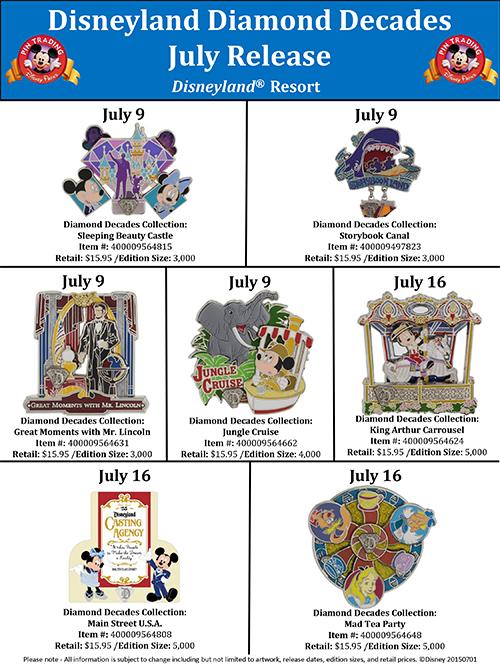 Details On Disneyland's Diamond Decade July Releases     DisKingdom