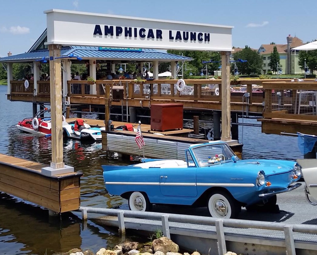 Amphbicar Makes A Splash At The Boat House in Downtown Disney at WDW