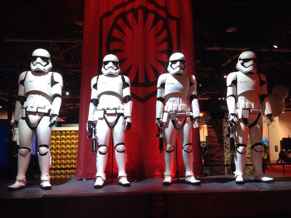 Star Wars: The Force Awakens Display At The D23 Expo