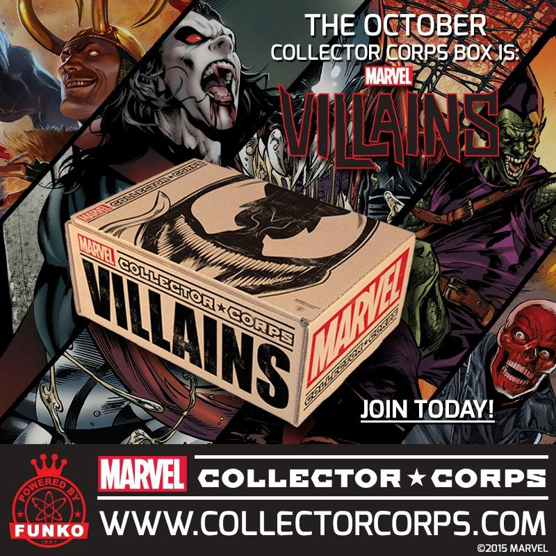 Marvel Collector Corps October Theme is…