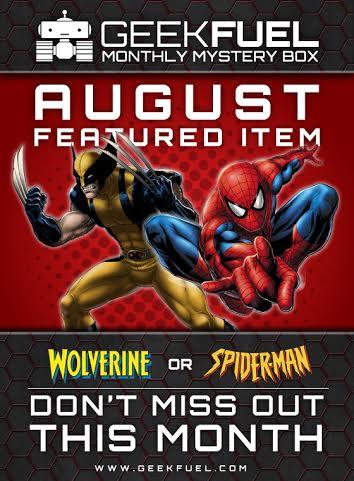 GeekFuel August Box Includes Spider-Man Or Wolverine Item