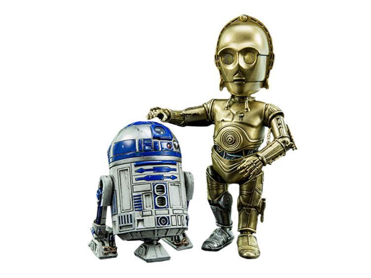 HeroCross Hybrid Metal Figuration C-3PO and R2-D2