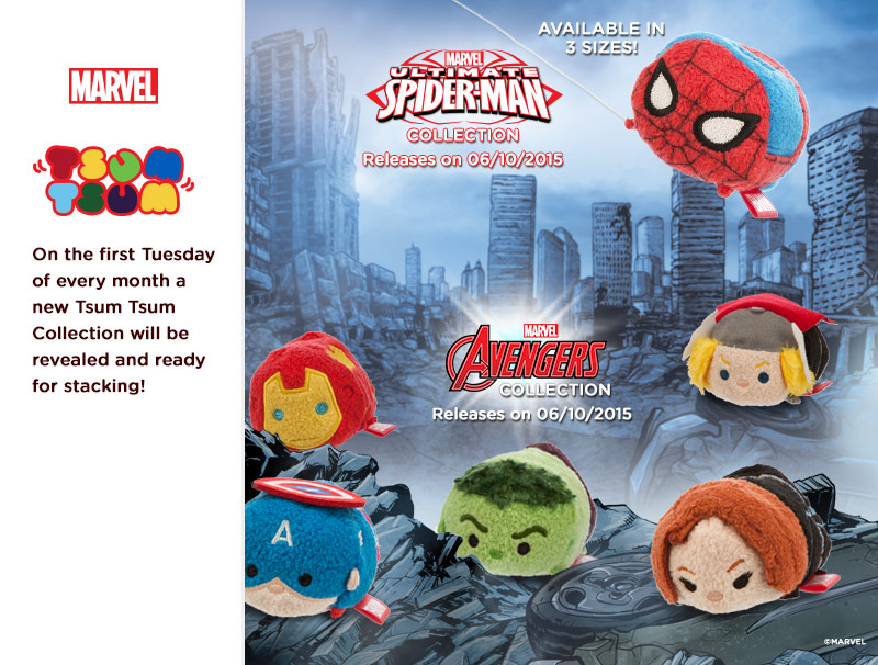 Marvel Avengers & Spider-Man Tsum Tsum's Coming In October
