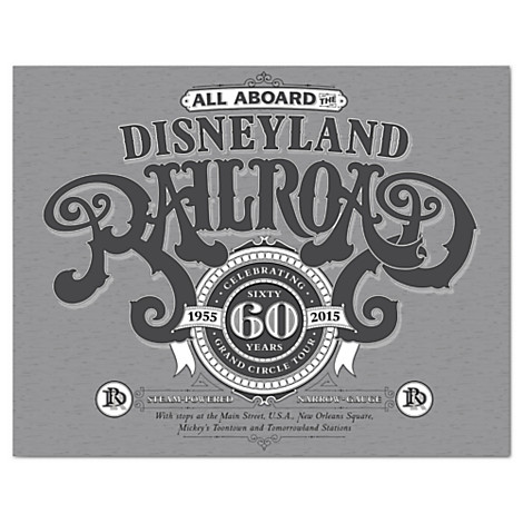 Disneyland Railroad Limited Release T-Shirts & Prints Out Now