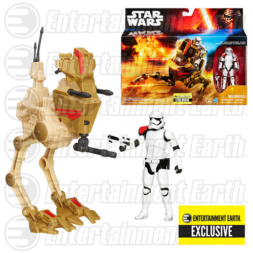 Details On Star Wars: The Force Awakens Desert Assault Walker with First Order Stormtrooper Officer – EE Exclusive