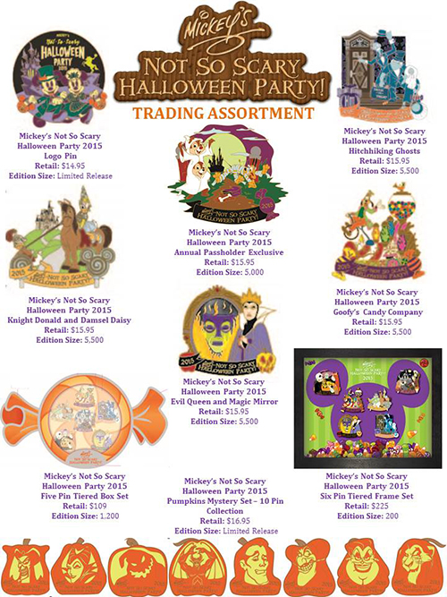 Latest Mickey's Not So Scary Halloween Pins Coming To WDW ...