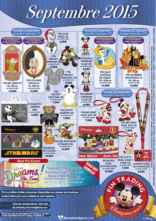 Details on september s pin releases at disneyland paris for Salon pixar paris