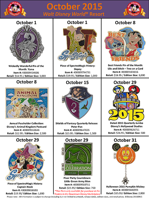 Details On Walt Disney World Pin Releases