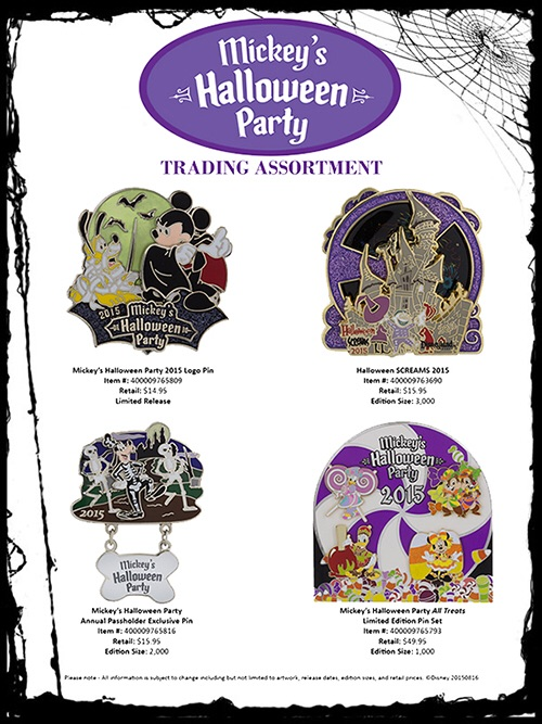 Details On Disneyland's Mickey's Not So Scary Halloween Party Pins