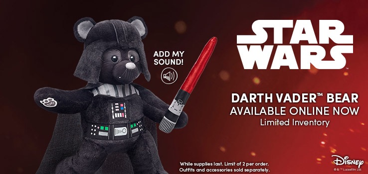 Star Wars Darth Vader Build A Bear