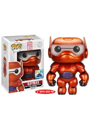 Metallic Paint Armored Baymax Pop Vinyl – Exclusive To Fun