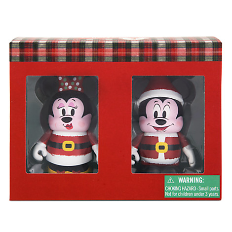 Santa Mickey & Minnie Mouse Holiday 2015 Vinylmation Twin Set Out Now