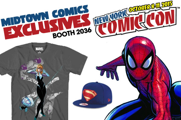 NYCC 2015 Marvel Exclusive Comics and T-Shirts from Midtown Comics