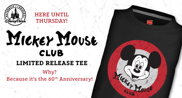 The Mickey Mouse Club 60th Anniversary T-Shirt Released