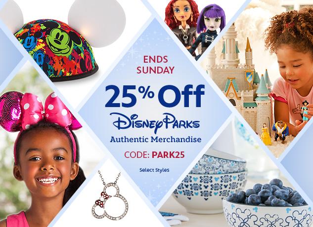 25% Off Park Authentic Items At Disneystore.com