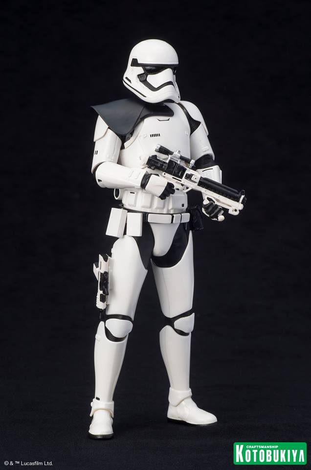 Details On STAR WARS First Order Stormtrooper ARTFX+