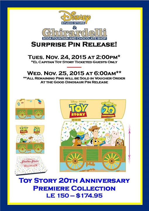 Surprise Toy Story 20th Anniversary Pin Released Today