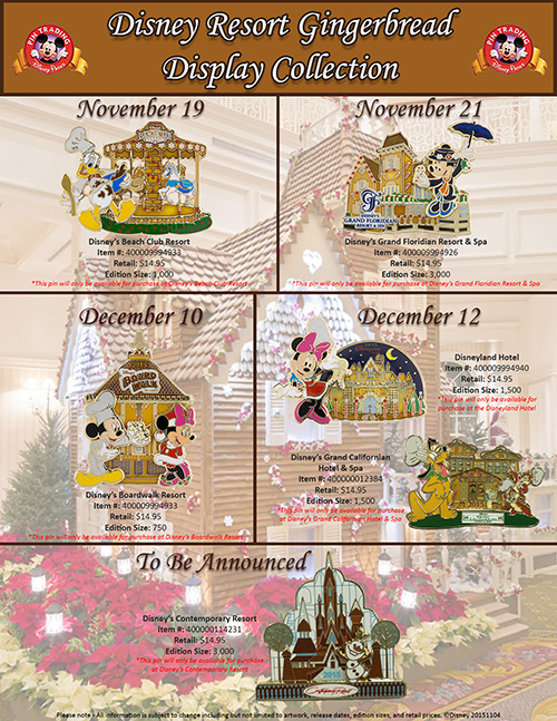 Gingerbread House Pins Debut at Disney Resorts