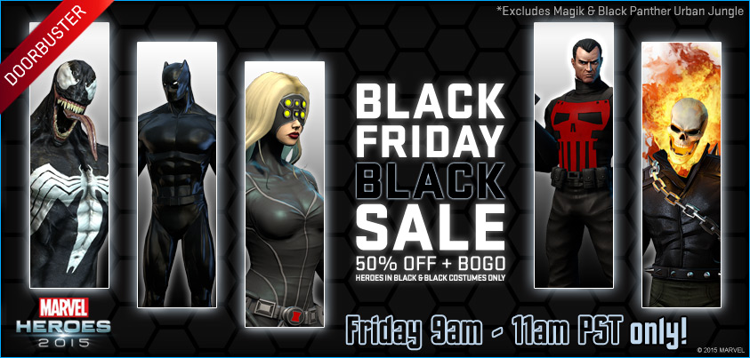 Details On Marvel Heroes Black Friday Deals