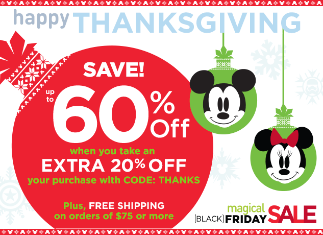 DisneyStore.com Offering 20% Off For Thankgiving